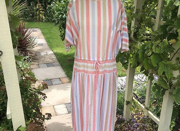 80's Striped Day Dress by Wallis