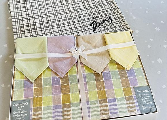 Irish Rayon Boxed Table Cloth & Napkins