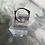 Thumbnail: Square Diamanté Silver Ring