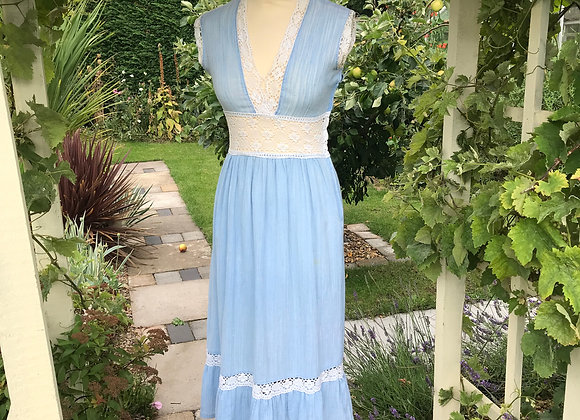 70's Blue Cheese Cloth and lace