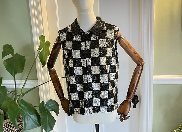 1960s Sequinned  Top