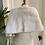 Thumbnail: White Faux Fur Vintage Stole