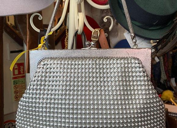 Silver Mesh Frame Bag