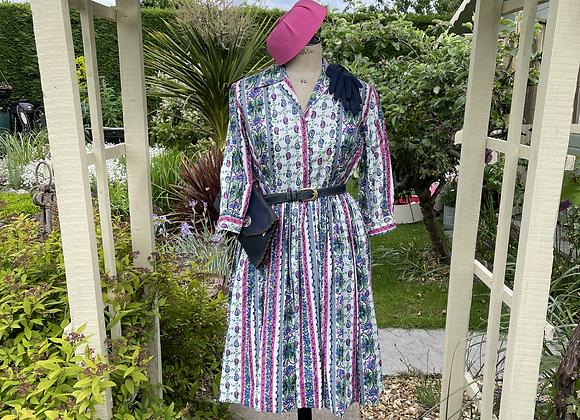 1950s Cotton Print Tea Dress