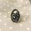 Thumbnail: Adjustable Gun Metal Stone Ring