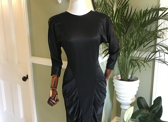 1980s Batwing Silhouette Dress