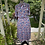 1980s Does 1940s  Floral Print Day Dress Back View