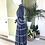 Thumbnail: 1970s Navy Long Skirt and Blouse