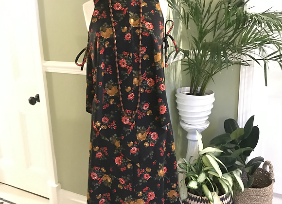 1970s Maxi Dress with sleeveless Cape