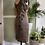 1950s Hand Beaded Satin Wiggle Dress Side View