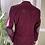 Burgundy Corduroy Jacket with Silk & Harris Tweed Back View