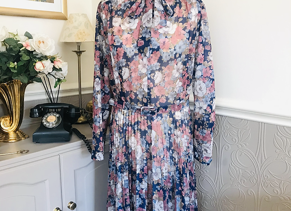 Sun Ray Pleated Dress 1970s