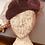 Thumbnail: Mauve Velvet Pill Box Hat with Veiling