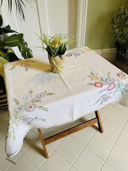 Vintage Linen Table Cloth