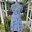 1940s Blue and Pink Floral Day Dress Back View