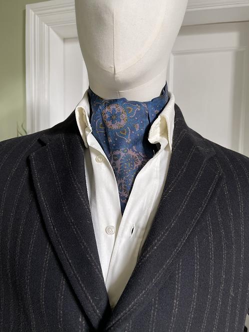 Vintage Cravat - Blue Paisley