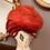 1950s Red Net & Burgundy Velvet Hat Back View