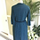 1950s Teal and Black Wool Mix Shirt Dress Back View