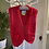 Thumbnail: Hand Knitted Red  Waist Coat