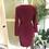 Vintage Cotton Velvet Sweetheart Wiggle Dress By Next Back View