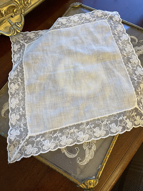 Vintage Lace Handkerchief - Shamrock
