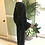 1970s Jean Varon Black Crepe Peplum, Wide-Leg Jump Suit Side View
