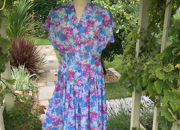 1980s Tea Dress