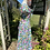 1980s Pretty Floral Tea Dress Side View