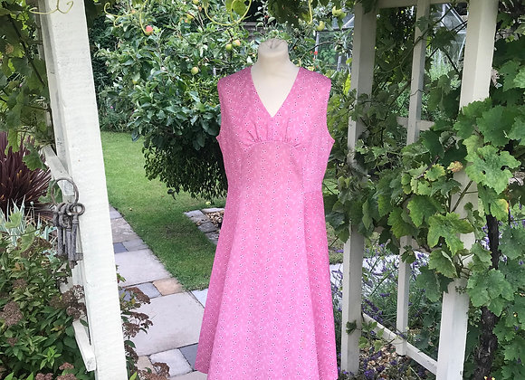 Cherry Pink 1970's day dress