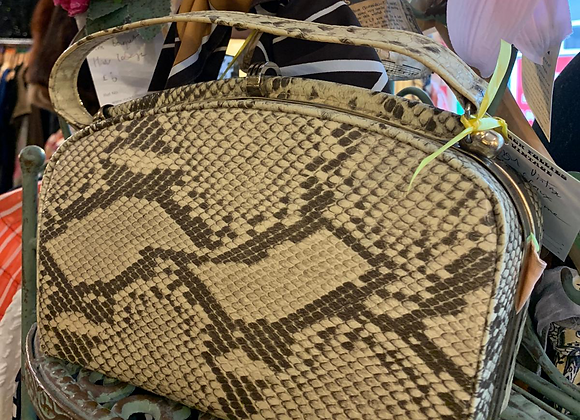 Faux Python Frame Handbag