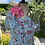 Styled for Vintage Event 1940s Blue and Pink Floral Day Dress Front View