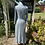 Pastel Green and Blue 1930s Rayon House Dress Back View