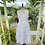 1950s Lilac and Yellow Tea Dress & Petticoat Front View