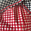 1970s Black, White Red  Gingham Dress Frill View