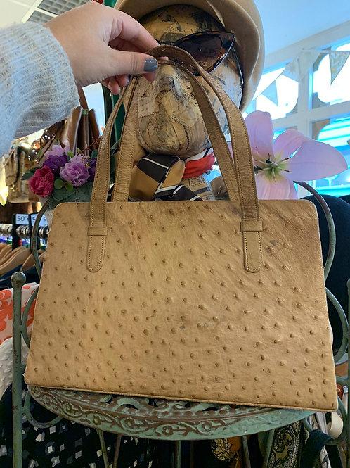 Vintage Ostrich Frame Hand Bag