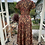1970s Autumn Coloured Maxi Dress with Choker Neck Line Back View