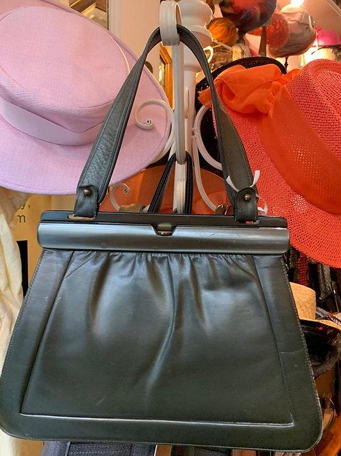 Olive Leather Frame Bag