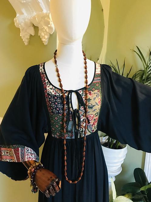 Maxi Dress with Kimono Sleeves