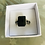 Thumbnail: Black Stone Ornate Silver Mount Ring