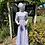 1970s White & Lavender Prairie Maxi Dress Laura Ashley Front View