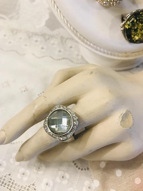 Clear Stone  Ring & Diamanté