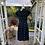 Thumbnail: 1940s  Black Dress with Cream  Embroidery