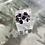 Thumbnail: Purple Stone & Silver Ring by Keris