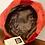 1950s Red Net & Burgundy Velvet Hat inside View