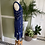 Thumbnail: 1920s Style Fringed Blue Sequinned Dress