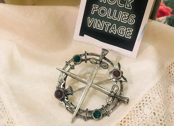 Celtic Inspired Brooch/ Shawl pin