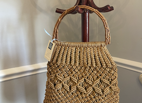 Rope Print Lined Bag