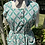 1940s Vintage Pinafore  Green and Yellow Apron Dress Front View
