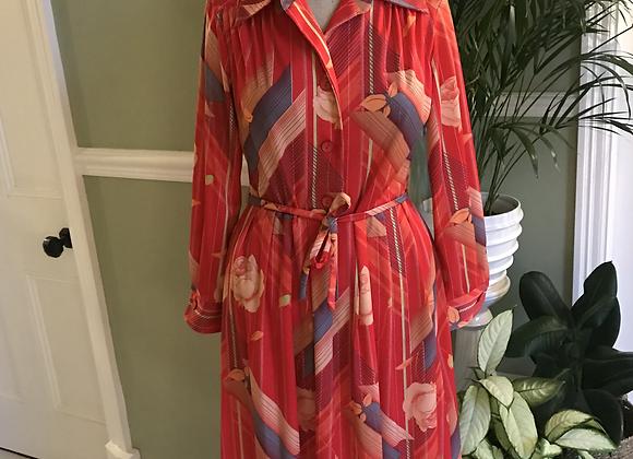 1970s Pleated  Shirt Dress