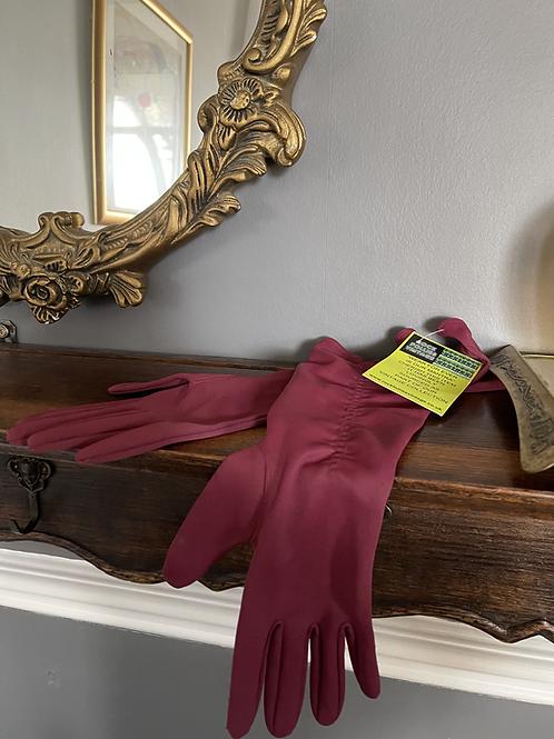 Mid Burgundy  3/4 Vintage Gloves